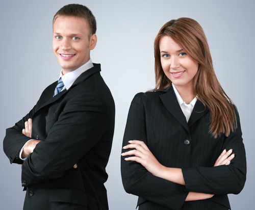 Man and woman careers photo