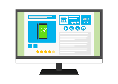 Graphic of an eCommerce site.