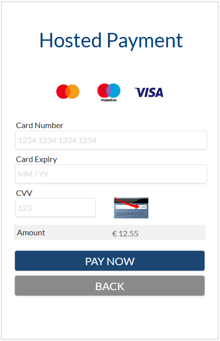 Hosted Payment Page sample image.