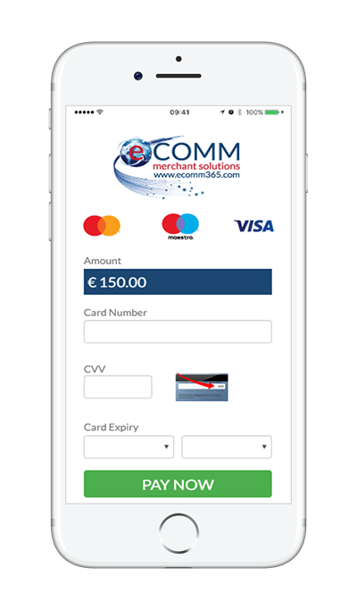 Hosted payment page on mobile